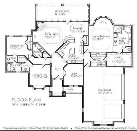 Texas ranch house plans houseplans monster house plans for Texas house floor plans